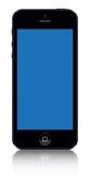 Iphone 5 svart vektor royaltyfri illustrationer