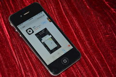 IPhone uber app app στο κατάστημα Στοκ φωτογραφίες με δικαίωμα ελεύθερης χρήσης