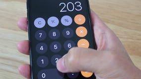 IPhone users use calculator app