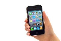 Iphone van de appel die op wit wordt geïsoleerdC Stock Foto