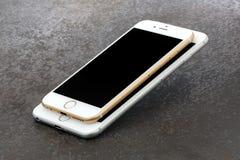 IPhone 6 van het grootteverschil en iPhone 6 plus Royalty-vrije Stock Afbeelding