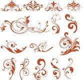 Floral Design Elements. Vector flower icons.