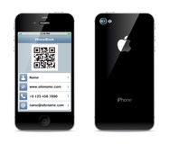 IPhone visiting card illustration Stock Photos