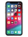 IPhone XS Max Illustration con los iconos ilustración del vector
