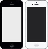 Iphone 5 zwart-witte hoge onderzoek Stock Foto's