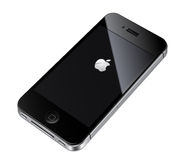 Iphone4S illustratie van de appel Stock Foto