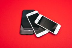 IPhones Яблока дерева Стоковые Изображения RF