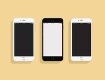 3 IPhones Arkivbild