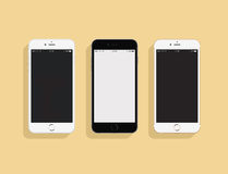 3 IPhones 图库摄影