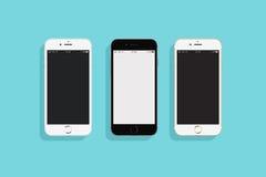 3 IPhones 库存照片