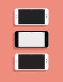 3 IPhones Stock Photography