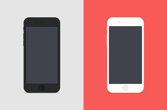 2 IPhones. On a colored background royalty free illustration