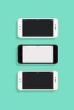 3 IPhones Royalty Free Stock Photo