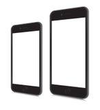 iPhones 6 y 6 más stock de ilustración
