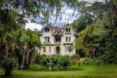 Ipiranga hus eller Tavares Guerra Mansion - Petropolis, Rio de Janeiro, Brasilien royaltyfri fotografi