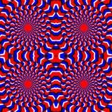 Ipnotico di rotazione Illusione perpetua di rotazione Fondo con le illusioni ottiche luminose di rotazione ottico illustrazione di stock