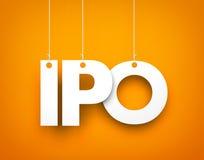 IPO词 免版税库存照片