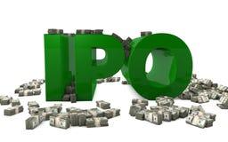 IPO - Öffentliche Erstemission Lizenzfreies Stockbild