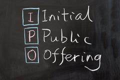 IPO - Первичное публичное предложение Стоковые Изображения