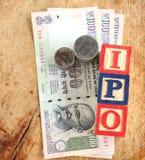 IPO-begrepp Arkivfoton