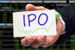 IPO-Benennung Stockfotografie