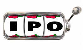 IPO Bet New Company Start-Up Initial Public Stock Offering stock illustration