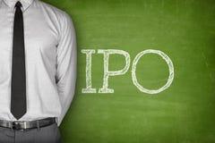 IPO eller initial offentligt text för erbjuda royaltyfri fotografi
