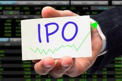 IPO-formuleringar Arkivbild