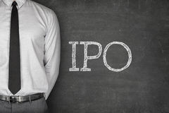 IPO text on blackboard Royalty Free Stock Images
