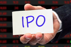 IPO wording Stock Images