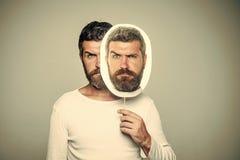 ipocrisia Modo e bellezza del barbiere immagine stock