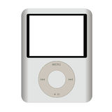 IPOD. This image represents an Apple MP3 Player isolated on a white background Royalty Free Stock Photography