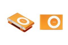 IPod. Orange iPod isolated on white Stock Image