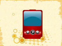 Ipod. An ipod on musical background Royalty Free Stock Photos