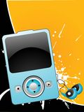 Ipod. I pod on abstract background Stock Photography