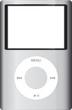 IPod Classic. The Apple iPod Classic Sixth Edition Isolated On White. The New Model Introduces A Capacity Increase to 160 GB Using Single-Platter Drive Royalty Free Stock Photos