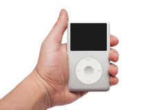 IPod classic 160 Gb in hand Stock Photo