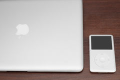 IPod classic 160 Gb on macbook Stock Photo