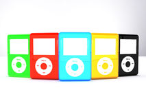 Ipod Classics. Includes a copyrighted product the Ipod. Mp3 player Royalty Free Stock Photo