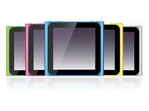 Ipod Nano Set EPS. Illustration of five sixth generation Ipod Nano in different colors vector illustration