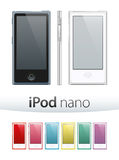 Ipod Nano Vector. Vector illustration of the new Apple iPod nano 2012 isolated on white background. 100% photo-quality vector graphics. Additional format (EPS) Stock Photos