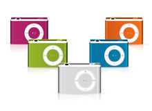 IPod shuffle players Royalty Free Stock Image