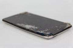 IPod touch with broken display Royalty Free Stock Image