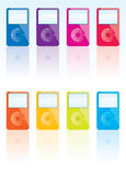iPod vektor royaltyfri illustrationer