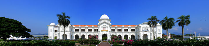 Ipoh Railway Station. Panorama view of Ipoh Railway Station on sunny day at Perak, Malaysia Stock Photo
