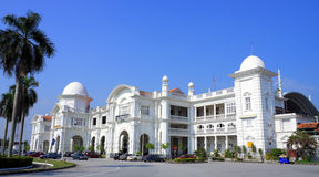 Ipoh Railway Station. Side view of Ipoh Railway Station on sunny day at Perak, Malaysia Stock Image