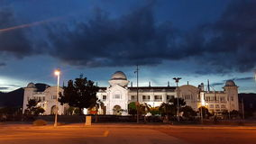 Ipoh Railway Station. The night view of Ipoh, Perak Railway Station. Historical Building and it`s a landmark of Ipoh stock photos