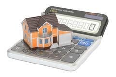 Ipoteca e pagamento per la casa, rappresentazione 3D Fotografie Stock Libere da Diritti
