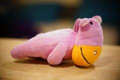 Ippopotamo rosa della peluche Fotografia Stock Libera da Diritti