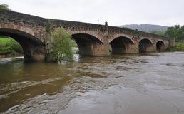 Ipsilon del fiume al ponte di Monmouth Immagine Stock Libera da Diritti